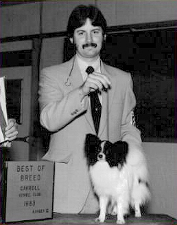 Danny in 1983 with his 1st Bred By Champion Paris